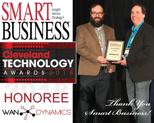 WAN Dynamics, 2018 Cleveland Tech Awards Honoree!